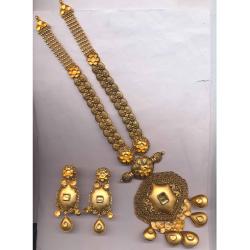 22KT Gold Hallmark Antique Khokha Rani Har