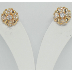 18kt gold fancy special occasion earring for women btg0627