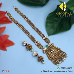 916 Gold Antique Jadtar Necklace Set KJ-N003