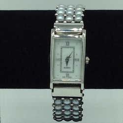 Freshwater Grey Button Pearls 3 Layers Watch JBG0227
