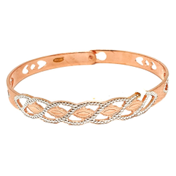 1 Gram Gold Forming Rose Plated Bracelet MGA - BGE0368