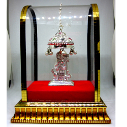 Silver Aai Shri Khodiyar Maa Statue with Chattar