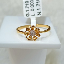 22 kt flower shape ring