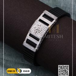 925 silver rubber belt