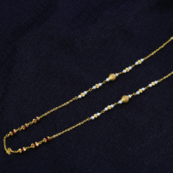 Ladies 916 Gold Moti Chainmala-AC45