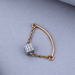 18KT Rose Gold Unique Design For pendant