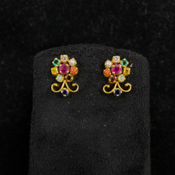 Navagraha diamond earrings