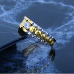 916 CZ Gold Ladies Diamond Ring JJLR-028