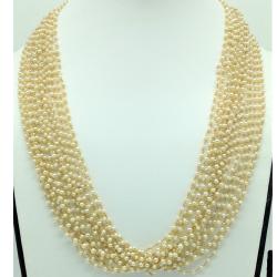FreshwaterRound Pearls 16 LinesGold Taar Necklace JGT0030