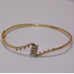 18K gold diamond bracelet  agj-br-68