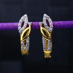 22KT Gold Leaves Design Hallmark Earring