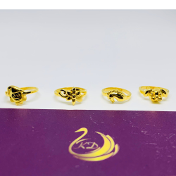 916 Gold Plain Casting Baby Ring