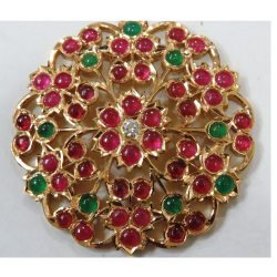 22kt gold close setting south indian Thiru Billai for women