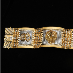 916 Gold Designer Om Design Bracelet Lucky ML-B011