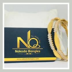 916 Gold CNC Bangles NB - 724