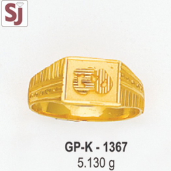 Om Gents Ring Plain GP-K-1367