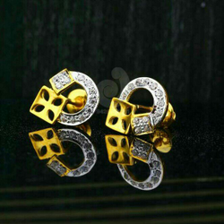 18ct Attractive Cz Gold Tops