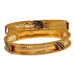 1 Gram Gold Forming Fancy Kadali Bangles MGA - KDE0025