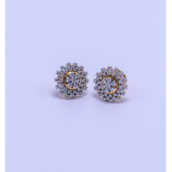 18k gold diamond earring  tops agj-er-06