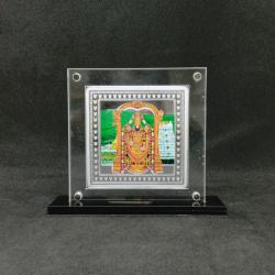 Hallmarked Silver Designer Coin of Tirupati Bala ji in Color Printing