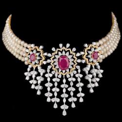Diamonds and Ruby PendentJSJ0190