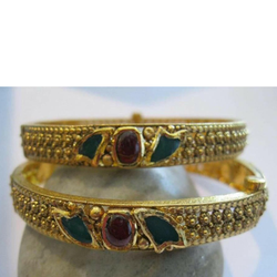 22k antique jadtar designer bangle