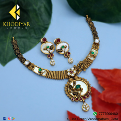 916 Gold Antique Necklace Set KJ-N008