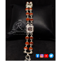 silver rudraksha classical gents lucky RH-LY173