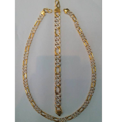 HOLLOW KADAP DIAMOND CHAIN & BRACELET CB0002