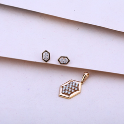 Rose gold pendalset cz 18ct by