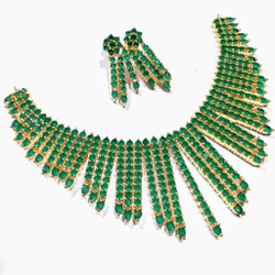 Green cz necklace set jmk0005