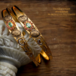 916 Gold Antique Copper Kadli Bangle