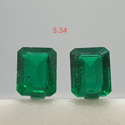 5.34ct square Shape green emerald VG-E06