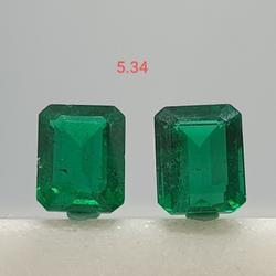 5.34ct square Shape green emerald VG-E06