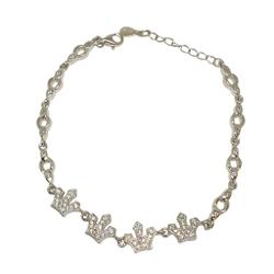 925 Sterling Silver Queen Shape Designer Bracelet MGA - BRS1763