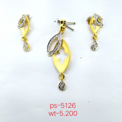 lital fancy dress matching pendent 22 kt