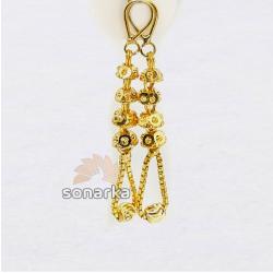 Lightweight Gold Latkan Earrings by