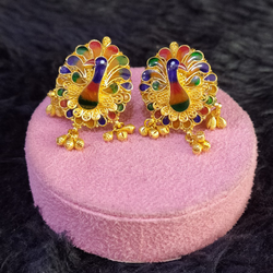 22KT/916 FANCY PEACOCK EARRINGS GBT-001