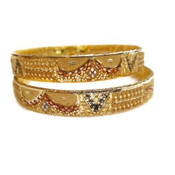 22k Gold Fancy Kada Bangles MGA - GP061