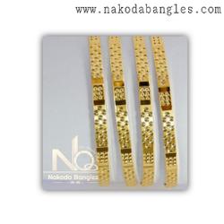 916 Gold CNC Bangles NB - 1386