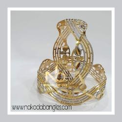 916 Gold CNC Bangles NB - 912