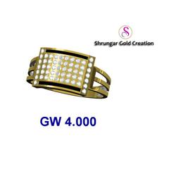 22KT gold Wedding CZ Ring