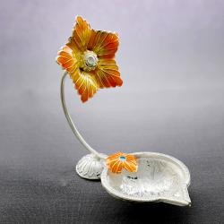 Silver flower Diya