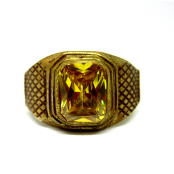 Gold plated pokhraj ring sr925-67