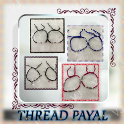 92.5 sterling silver thread-dori  payal-anklet ms-3980