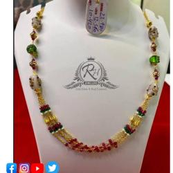 22 carat gold antique ladies mangalsutra RH-MN556