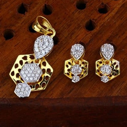 916 gold cz Pendant Set ps-0013