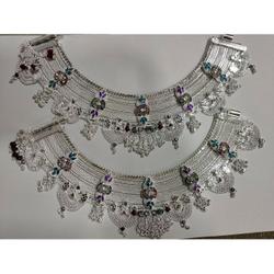 Silver Rajvadi Payal by