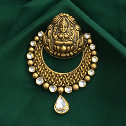 22K Gold Temple Design Pendant