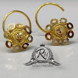 18 carat Gold ladies nosepin Rh-Ln962